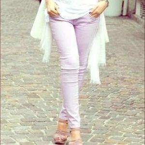Lavender skinny jeans!